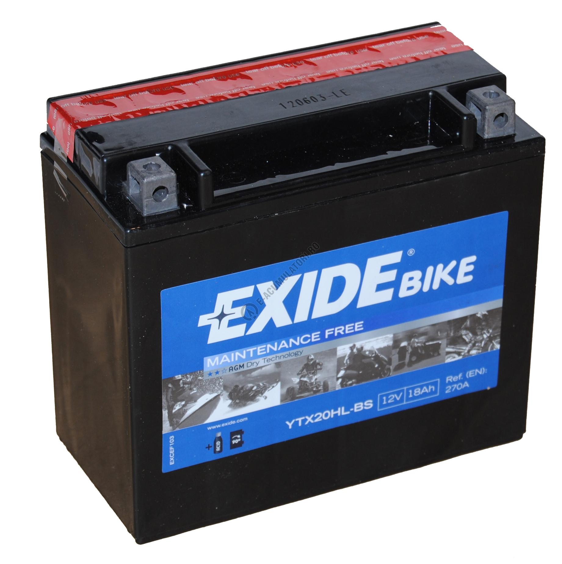 AKU 12V 18AH EXIDE ETX20HL-BS (YTX20L-BS)